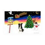 XmasSigns/ Border Collie #4 35x21 Wall Decal