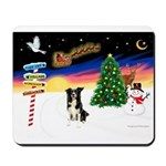 XmasSigns/ Border Collie #4 Mousepad