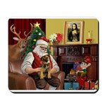 Santa's Border T Mousepad
