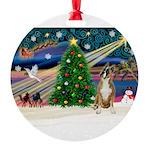 XmasMagic/ Boxer Round Ornament