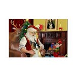 Santa's Boxer 35x21 Wall Decal