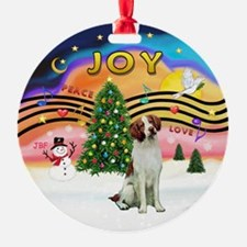 XMusic2-BrittanySpaniel Ornament
