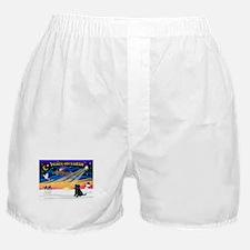 XmasSunrise/Brussels (blk) Boxer Shorts
