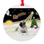Night Flight/Mastiff 4 Round Ornament