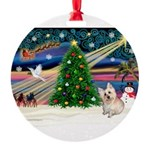 XmasMagic/ Cairn T Round Ornament