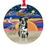 XAngel-CatahoulaLeopardDog Round Ornament