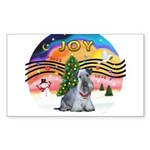 XMusic2-Cesky Terrier (slate) Sticker (Rectangle 1