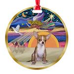 XmasStar/Chihuahua #1 Round Ornament