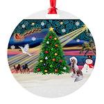 XmasMagic/Chinese Crested Round Ornament