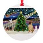 XmasMagic/ Shar Pei Round Ornament