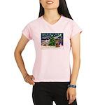 XmasMagic/Cocker (brn) Performance Dry T-Shirt