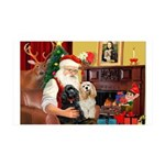 Santa's 2 Cockers 35x21 Wall Decal