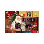 Santa's 2 Cockers 35x21 Wall Decal