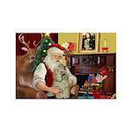 Santa's Cocker 35x21 Wall Decal