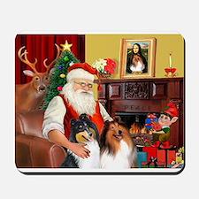 Santa's 2 Collies Mousepad