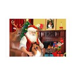 Santa's Collie 35x21 Wall Decal