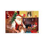 Santa's Collie 35x21 Wall Decal
