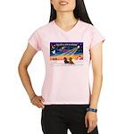 XmasSunrise/2 Dachshunds Performance Dry T-Shirt