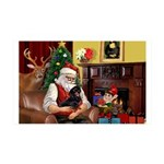Santa/Dacshund (BT) 35x21 Wall Decal