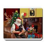 Santa/Dacshund (BT) Mousepad
