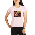 Santa/Brown Dacshund Performance Dry T-Shirt