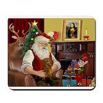 Santa/Brown Dacshund Mousepad