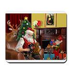 Santa/Two Dachshunds (BB) Mousepad