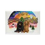 XMusic2-Two Long H. Dachshunds Rectangle Magnet (1