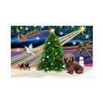 XmasMagic/Dachshund (WH) 35x21 Wall Decal