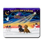 XmasSunrise/ 2 Dachshunds Mousepad
