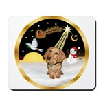 Night Flight/Dachshund #11 Mousepad