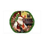 Santa's Dobie 35x21 Wall Decal