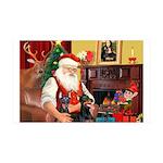 Santa's 2 Dobies 35x21 Wall Decal