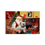 Santa's English Bulldog 35x21 Wall Decal