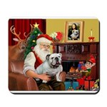 Santa's English Bulldog Mousepad