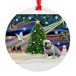 XmasMagic/English Bulldog Round Ornament