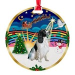 XmasMusic 3/Eng Springer #8 Round Ornament
