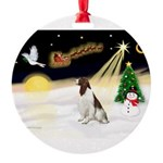 Night Flight/Eng Springer L3 Round Ornament