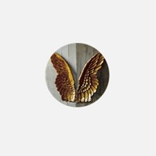 Gold Angel Wings 1 Mini Button