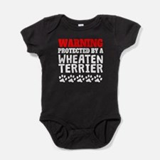 Protected By A Wheaten Terrier Baby Bodysuit