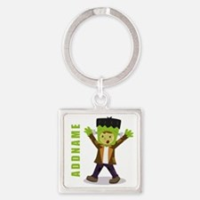 Halloween Green Goblin Personalize Square Keychain