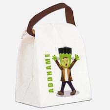 Halloween Green Goblin Personaliz Canvas Lunch Bag