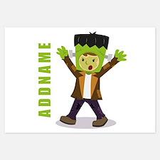 Halloween Green Goblin Personal Invitations