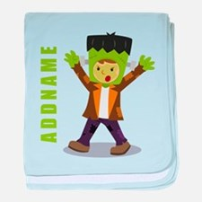 Halloween Green Goblin Personalized baby blanket
