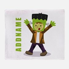 Halloween Green Goblin Personalized Throw Blanket