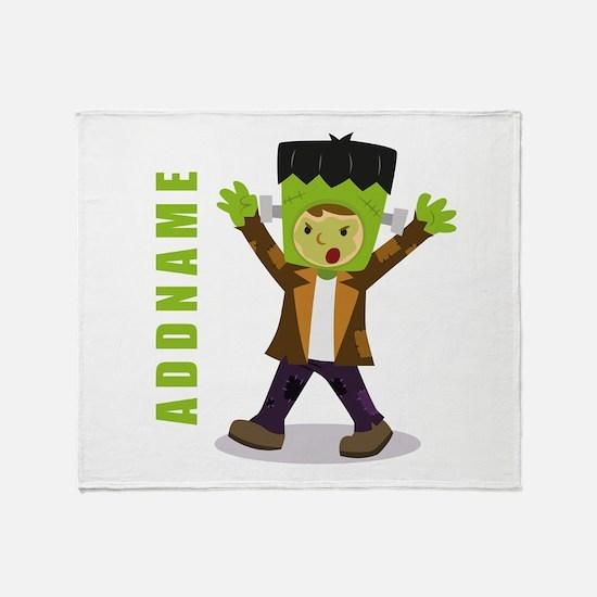 Halloween Green Goblin Personalized Throw Blanket