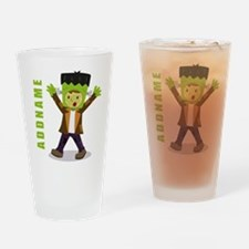 Halloween Green Goblin Personalized Drinking Glass