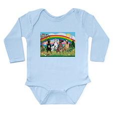 4Greyts-Rainbow1 Long Sleeve Infant Bodysuit