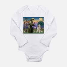 St Francis / Great Pyrenees Long Sleeve Infant Bod