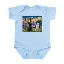 St Francis / Great Pyrenees Infant Bodysuit